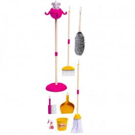 Set curatenie, din plastic, roz