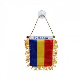Steag auto cu ventuza, Romania, 8x12 cm