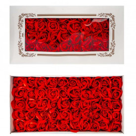 Trandafiri decorativi, din sapun, 50 buc/set - ROSU