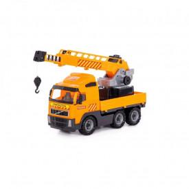 Camion cu macara - Volvo PowerTruck, 72x19x32 cm, Wader