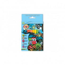Carioca 10 culori Owls - Koh-I-Noor