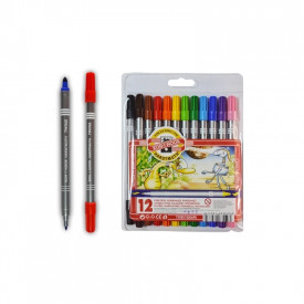 Carioca 12 culori 2 capete - Koh-I-Noor