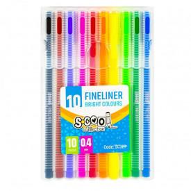 Fineliner, varf 0,4mm, 10 culori/set - S-COOL