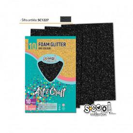 Hartie buretata, glitter, gri, 10 buc/set, 20x30 cm - S-COOL