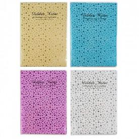 Notes A5 Glitter, diverse culori - STARPAK