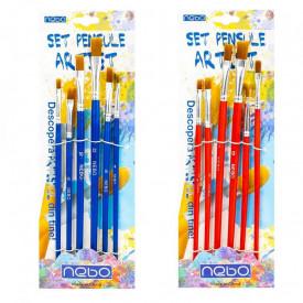 Pensule varf tesit, 6 buc/set - NEBO