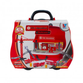Play set pompieri in cutie-masinuta
