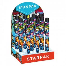 Stilou + rezerva cerneala - Grafitti, 10 buc/display - STARPAK