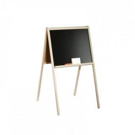 Tablita de lemn, 2 fete /90 cm + suport + accesorii - Tupiko