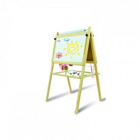Tablita de lemn magnetica /ajustabila/ 2 fete/115cm + suport + accesorii - Tupiko
