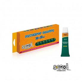 Tempera verde inchis, 16ml, 10 culori/set - S-COOL