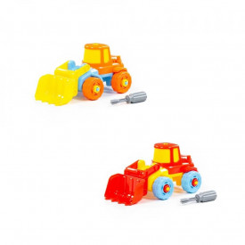 Tractor-excavator demontabil, 19,5x10x29 cm, Polesie
