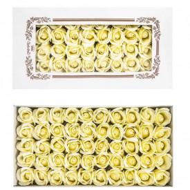 Trandafiri decorativi, din sapun, 50 buc/set - IVORY