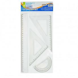 Trusa geometrie, 4 piese/set, liniar 30 cm - S-COOL