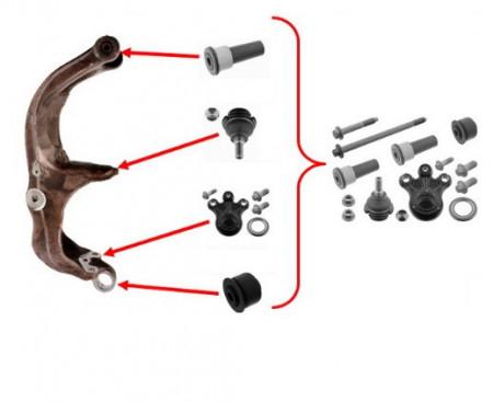Kit reparatie portfuzeta Peugeot 407 2004 - 2016