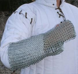 Protecção de braço em malha de aço, zincada