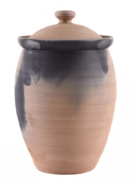 Pote de barro romano com tampa