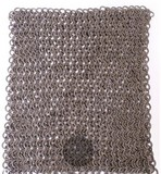 Riveted chain mail square piece