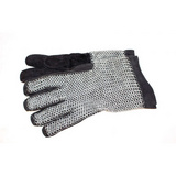 Gloves, leather with galvanised chain mail