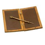 Roman wax writing tablet with bronze pen [CB1916398900]