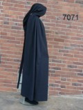 Cape with long hood