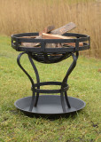Fire pit with ground sheet