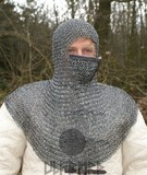 Riveted chain mail coif
