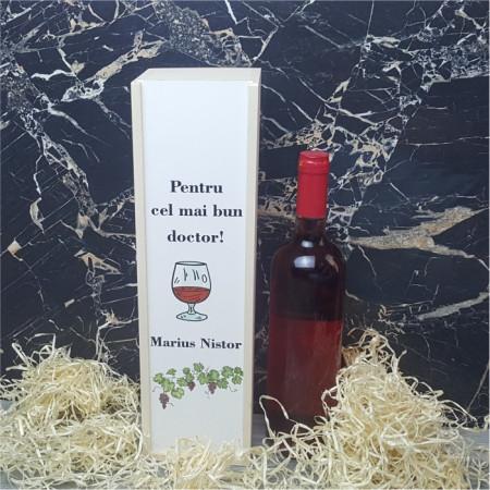 Cutie de vin personalizata -Pentru cel mai bun..-