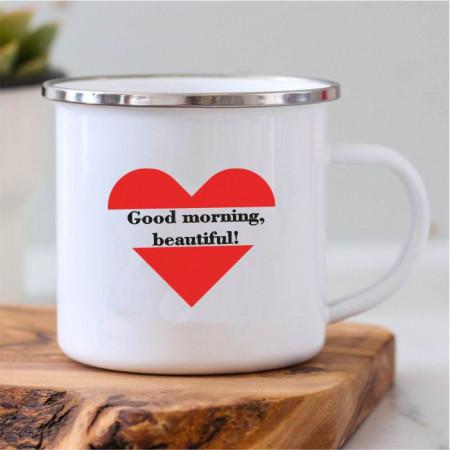 Cană metalică -Good morning-