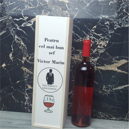 Cutie de vin personalizata -Pentru cel mai bun.. M2-
