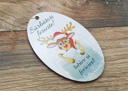 Ornament pom -IUBIRE SI FERICIRE-