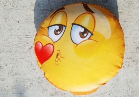 Perna Emoji pupic personalizata cu 3 poze si text