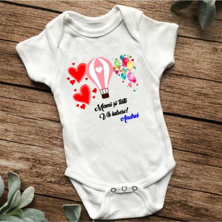 Body personalizat -Mami și tati vă iubesc-