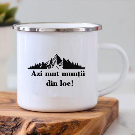 Cană metalică -Munții-