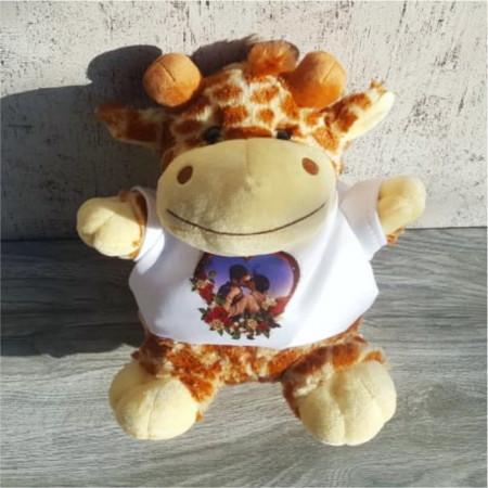 Girafa de plus personalizata cu o poza 01