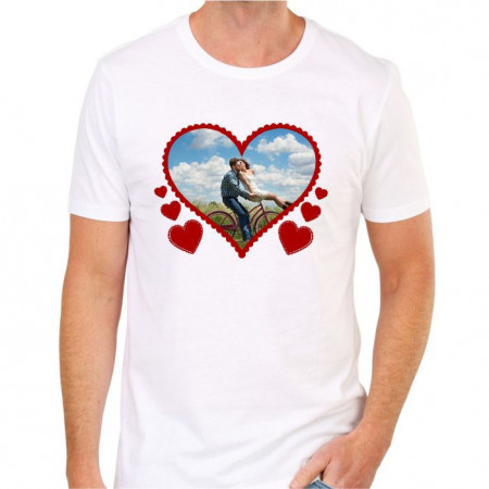 Tricou personalizat cu poza -Inimă-