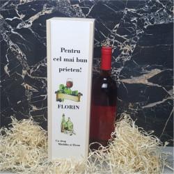 Cutie de vin personalizata -Pentru cel mai bun-