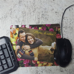 Mouse pad personalizat cu poza si text M2