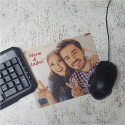 Mouse pad personalizat cu poza si text