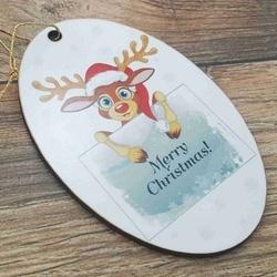 Ornament pom -MERRY CHRISTMAS- ren