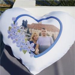 Perna personalizata inimioara blue