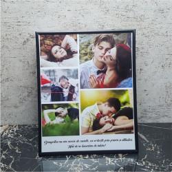 Rama foto personalizata cu 5 poze si text24x30 M2
