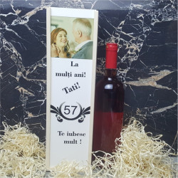Cutie de vin personalizata V1