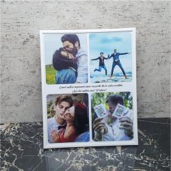 Rama foto personalizata cu 4 poze si text24X30
