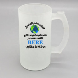 Halbă personalizată -Salvați pământul-