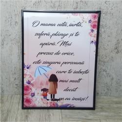Tablou personalizat cu mesaj -Mama-