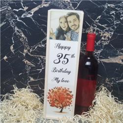 Cutie de vin personalizata cu poza si varsta M3
