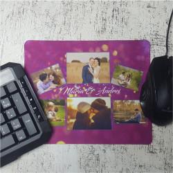 Mouse pad personalizat cu 6 poze si text