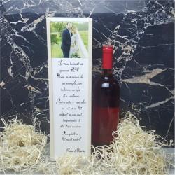 Cutie de vin persoanalizata cu poza si text