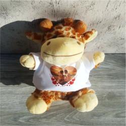 Girafa de plus personalizata cu o poza